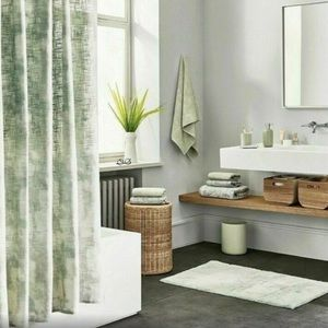 Project 62 Fabric Shower Curtain Green Cream